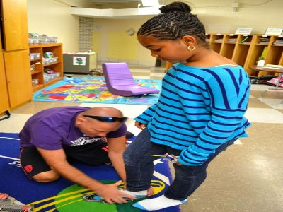 Kids Get Ready for New Shoes Thanks to Grant